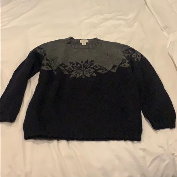 JCrew J. Crew Hand Knit Snowflake Sweater Medium